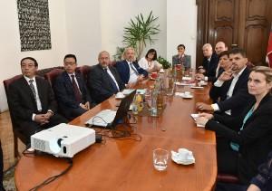 Přijetí delegace města Suzhou v Brně